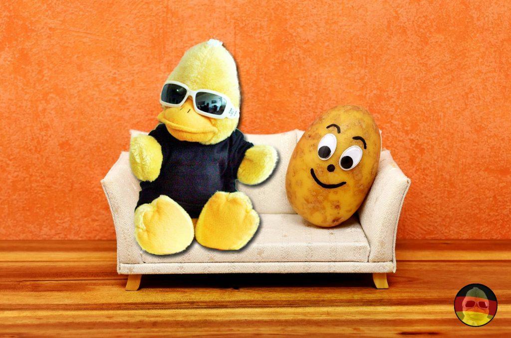 Warum unser Erpel durchaus eine Schwäche für Kartoffeln bzw. Erpeln hat.