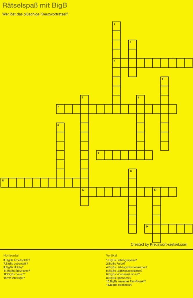 Rätselspaß mit BigB - Rätsel